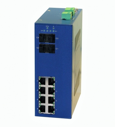 8 Gigabit Ethernet+4 Gigabit SFP FO Managed Ethernet Switch